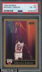 1990 Skybox #41 Michael Jordan Chicago Bulls HOF PSA 6 EX-MT