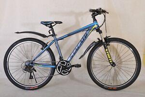 UK stock Stacato 26'' Mountain Bikes Bicycles with 21 Speeds SHIMANO Black