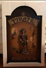 SCOURGE OF THE SEA PIRATE 3D WOOD RESIN Pub Bar Sign DECORATION