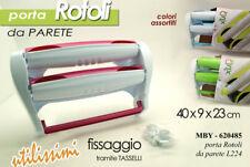 PORTA ROTOLO DA PARETE 40*9*23 CM PLASTICA COLORI ASSORTITI MBY 620485
