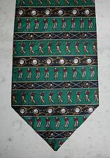 Museum Artifacts Golf Lovers Golfing Sports Silk Mens Novelty Neck Tie