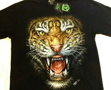"Tiger Studded Glow in the dark Tee shirt  2 sided print  LG 42""-44"" RCSTUD 015"