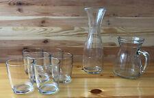 Servizio 6 bicchieri + 2 caraffe acqua e vino Tumbler Stondato