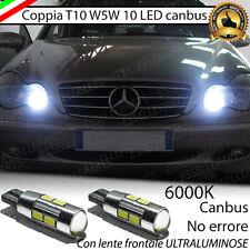 COPPIA LUCI POSIZIONE A 10 LED MERCEDES BENZ C (W203) T10 W5W CANBUS NO ERRORE