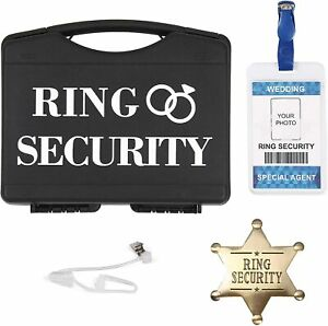 Ring Security Ring Bearer Gift Set – Includes Metal Badge, Spy Ear Piece, And ID