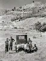 Depression era Dust Bowl Photo Busted Ford  Car travel USA 1930s Rural America