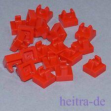 LEGO - 20 x Platte / Fliese, rot 1x1 mit Clip oben / 2555 NEUWARE (e5)