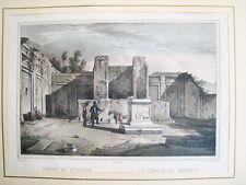 Pompeya,tempio di Mercurio.Cuciniello e Bianchi 1830