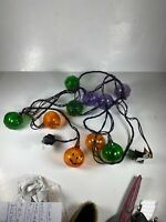 "Pumpkin Blow Mold String Lights Of 10 MC Jack-O'-Lantern 2.25"" HALLOWEEN Tested"