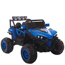 Auto elettrica jeep 12V due posti per bambini con telecomando fuoristrada blu