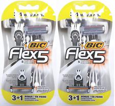 BIC Flex 5 Five Blade Disposable Razors, 8 ct (6 + 2 Bonus)