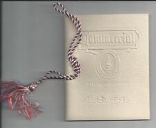 1941 COMMERCIAL HIGH SCHOOL COMMENCEMENT BOOK & DANCE CARD, NEW HAVEN, CONN