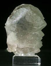 QUARTZ GWINDEL with CHAMOSITE Incl Fine Mineral Specimen Crystal CHAMONIX FRANCE