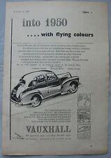 1949 Vauxhall Original advert No.3