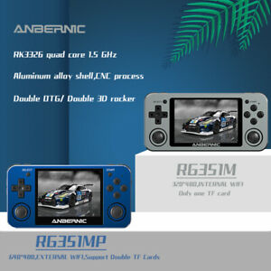"""NEW Anbernic RG351MP RG351M 3.5"""" IPS Handheld Retro Video Game Console 2400Games"""