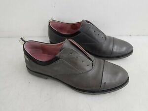 Pikolinos Grey Leather Flip On Flat Shoe Size 39
