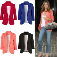Autumn Winter Women Casual Boyfriend No Buckle Business Suit Jacket Blazer Coats
