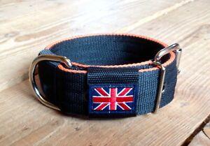 "BC1 Handmade Webbing Dog Collar 2"" wide Lurcher/Greyhound/Bull Cross 15""-20"""