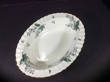 """BEAUTIFUL ANTIQUE ROYAL WORCESTER ENGLAND 10"""" OVAL SERVING BOWL-VALENCIA"""