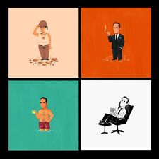 Mad Men by Olly Moss - Limited Edition Print - Set Of 4 - Not Mondo.