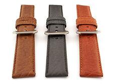 Mens Genuine Buffalo Leather Watch Strap Band Bizon SS. Buckle Spring Bars
