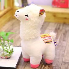 White Alpaca Llama Stuffed Animal Alpaca Cartoon Plush Doll Gift For Kids 25cm