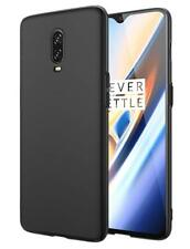 for OnePlus 6t Case Ultra Slim Hard Back Cover - Matte Black