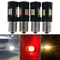 2Pcs 1156 BA15S 3030 21-SMD LED Bulbs Car Turn Signal Reverse Brake Lig li