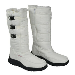 Damen Stiefel Winterstiefel Winter Schuhe Outdoor Boot Schnee Stiefel D52 Weiß