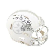 Hines Ward Autographed Pittsburgh Steelers Ice Mini Football Helmet - BAS COA