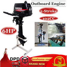 6HP Outboard Engine Fishing Boat Motor Water Cooling Motor Short Shaft 2-Stroke