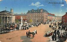 "Market Square, Dundalk Ireland ""Irish Life"" Vintage Postcard Early 20th Century."