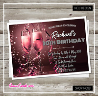 Personalised Party Invitations for 21st 30th 40th 50th 60th Birthday