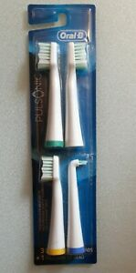 New ORAL-B PULSONIC Toothbrush Brush Heads & Precision Tip 4 Pack Bundle SEALED