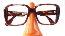Männer Gestell groß eckig SELTEN Vintagefassung Silhouette Brille braun Gr M