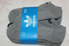 Adidas Men's Dark Grey No Show Sport Ankle Socks 6-Pack NWT