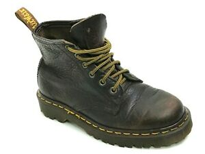 VTG.DR.Martens Made in England Rear Brown Ankle Boots Size US.5 EU.36 UK.3