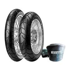 Pneumatici Pirelli Scorpion Trail 90/90-21 54S 130/80-17 65S + camere d'aria
