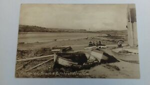 vintage postcard Ferryside Beach & Lifeboat House Carmarthenshire Friths