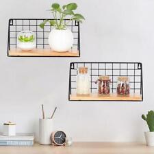Hanging Wall Shelf Wall Mounted Storage Rack Metal Display Supporter Shelves