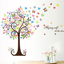 Butterflies Tree Wall Stickers Art Decal Paper PVC Mural Home Room Decor DIY