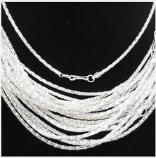 """Lots 20-1000pcs Silver/Gold plated Hollow Snake Chain Necklace Clasp Long,20"""""""