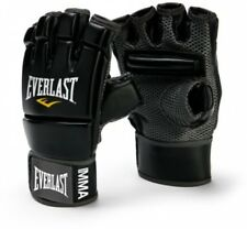 Evercool Mma Kickboxing Gloves Black Full Wrist Wrap Strap Knuckle Padding
