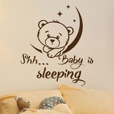 Vinyl Wall Stickers Mural Cute Bear Kids Room Decoration Nursery Bedroom Decor