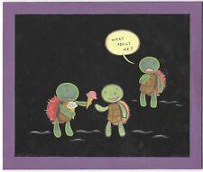 Lark Pien Acrylic Illustration of Turtles & Ice Cream from 2008 Long Tail Kitty