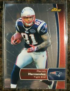 2012 Topps Finest #92 Aaron Hernandez New England Patriots