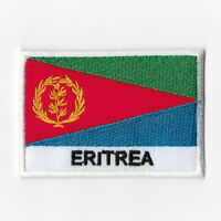 ERITREA FLAG Iron-on PATCH SOUVENIR EMBLEM GOLD BORDER #12