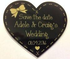 WEDDING FAVOURS ENGRAVED ACRYLIC SAVE THE DATE FRIDGE MAGNET GIFT KEEP SAKE