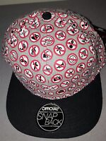 "STEFAN JANOSKI "" NO "" GREY BLACK RED WHITE MENS SNAPBACK HAT BRAND NEW WITH TAGS"