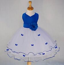NEW WHITE TULLE WEDDING FLOWER GIRL DRESS ROSEBUD PAGEANT 12-18M 2 4 6 8 9 10 12